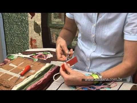 Pontos para fazer tapeçaria - YouTube
