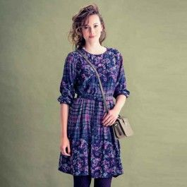 Deze jurk is een romantisch model van fijne zachte viscose.