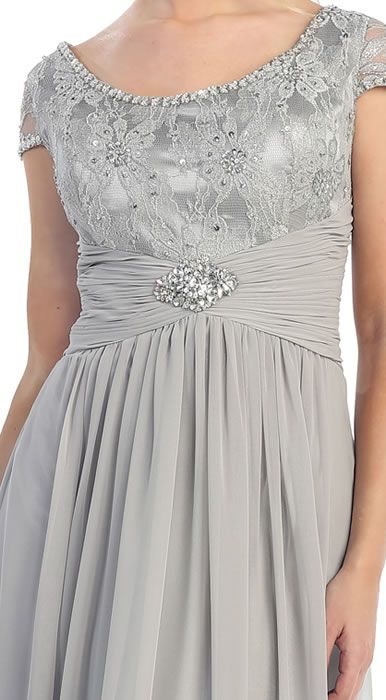 Long Formal Dresses Plus Size Mother of the Bride Dress     Really like this - wish it had longer sleeves and different color.