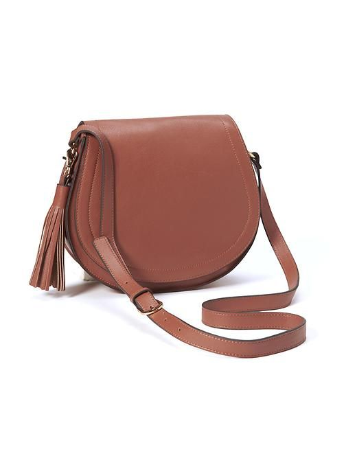 Faux-Leather Tassel Saddle Purse for Women Product Image