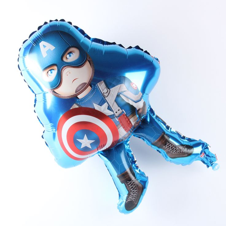63*45cm Captain America Balloon Aluminum Foil Balloons Party Decoration Balloons Celebration Supplies #Affiliate
