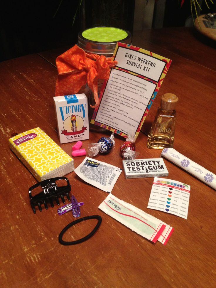 Girls Weekend Survival Kit The Ingredients Girls