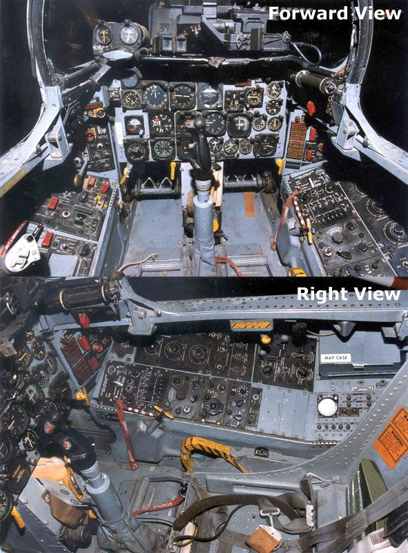 North American F 100 Super Sabre Cockpit Picture Cockpit Fighter Planes Us Military Aircraft