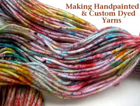 Sprinkle Dyed Yarn DIY from Chalk Legs- Great technique for our Acid Dyes!