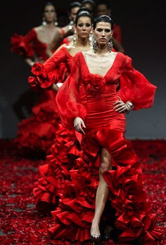 Flamenco Fashion Show Seville, Spain, 2008 designer Vicky Martin Berrocal.