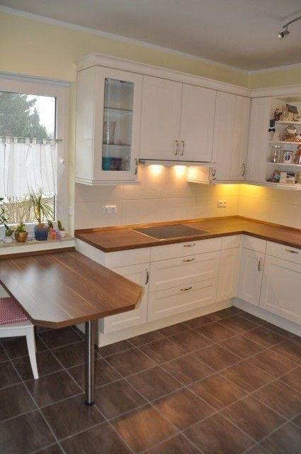 Küchentisch aus dem Holz der Arbeitsplatte | Küche in 2018 | Pinterest