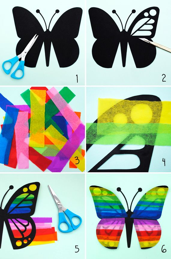 DIY: butterfly sun-catchers: