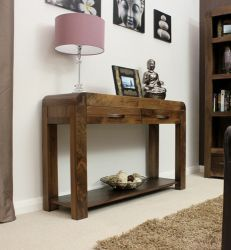 Shiro Walnut Console Table http://solidwoodfurniture.co/product-details-pine-furnitures-3040-shiro-walnut-console-table.html