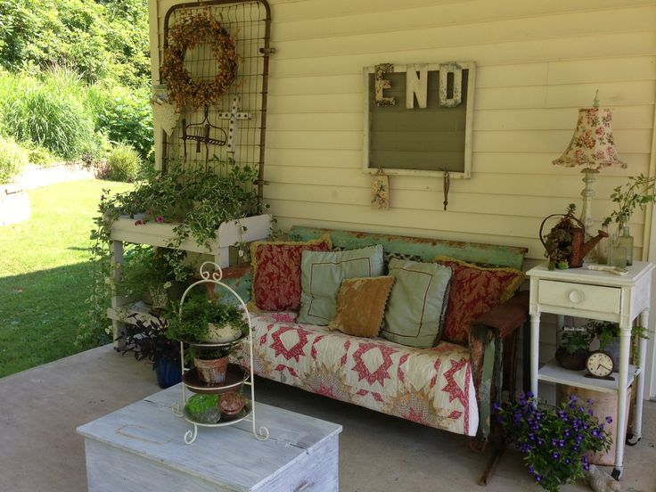 My shabby cottage style porch.