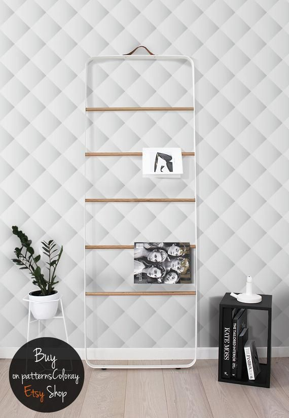3d Squares Rhombs Pattern Gradient Wallpaper Ombre Shapes Etsy Removable Wall Murals Wall Patterns Removable Wallpaper