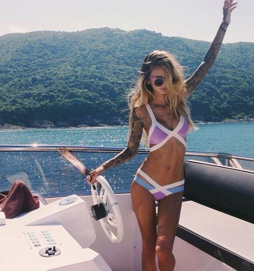 strappy pastel bikini