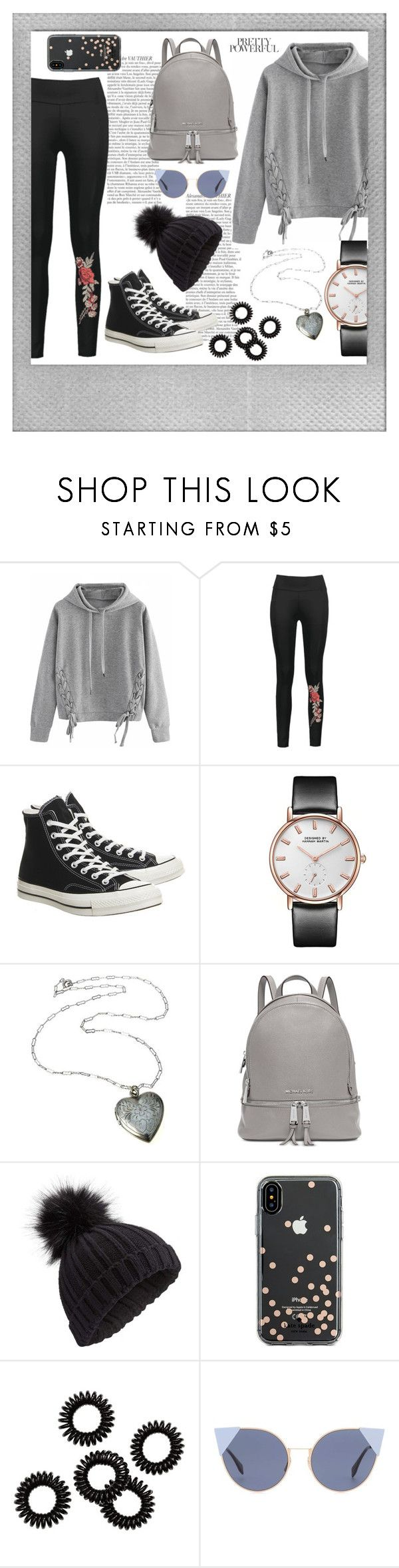"""""""058"""" by holography ❤ liked on Polyvore featuring Polaroid, WithChic, Converse, Michael Kors, Miss Selfridge, Kate Spade and Fendi"""