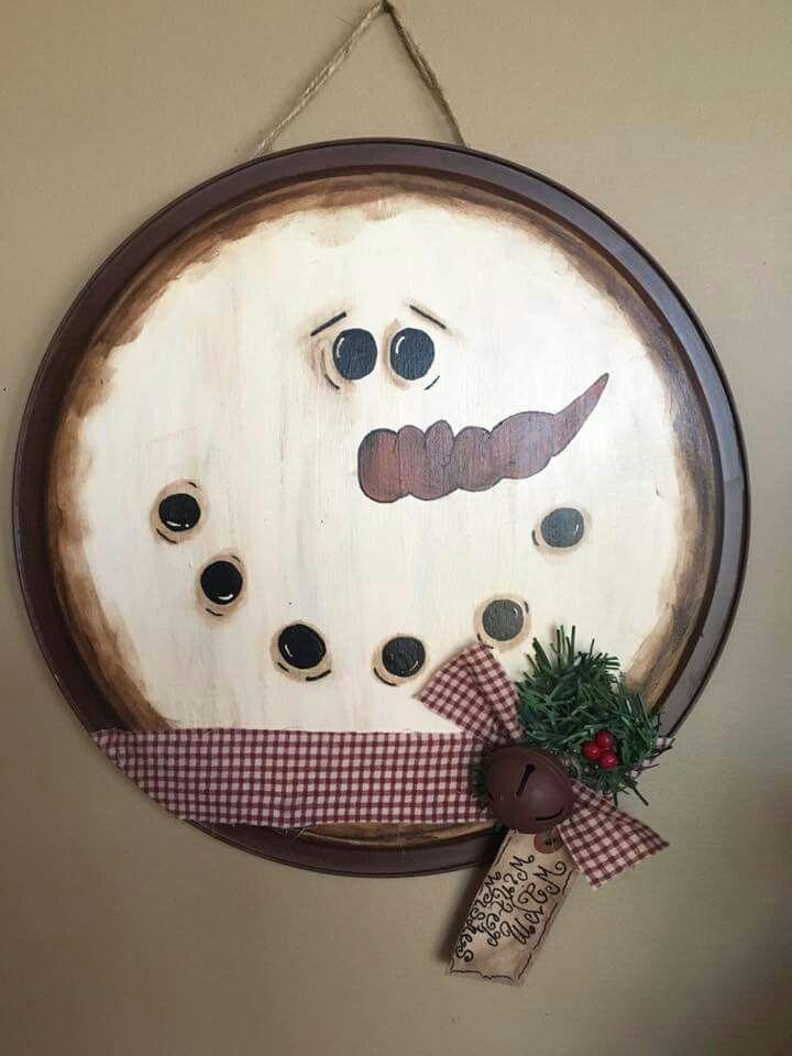 Pizza pan snowman                                                                                                                                                                                 More