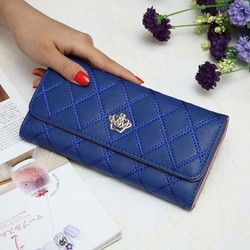 Photo of Candy Colors Wallets With Imperial Crown Fashion Long Wallet Handbags Ladies Leather Bag Popular