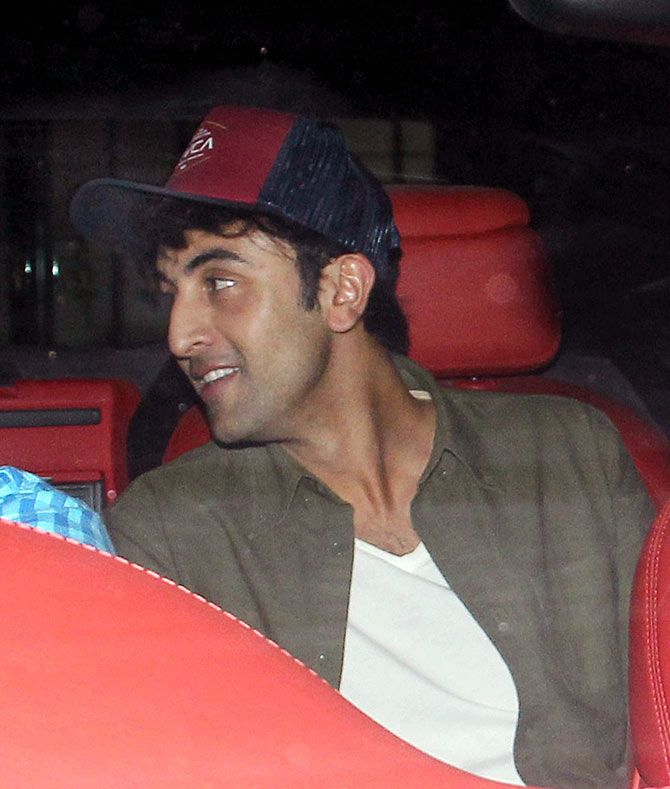 Ranbir Kapoor spotted outside Aarti Shetty's home. #Bollywood #Fashion #Style #Handsome