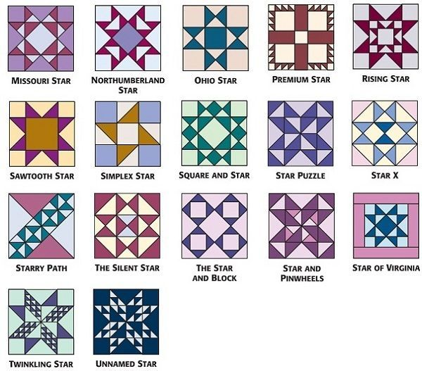 9-inch star blocks from 501 Rotary-Cut Quilt Blocks C