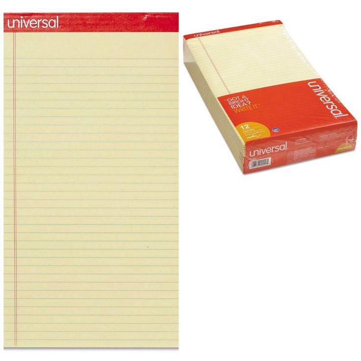 12 Perforated Writing Pad Legal Letter Note Pads Office Paper Notebook 8.5 x 11 #Notepads