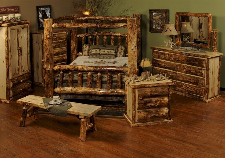 Rustic Cedar Log Bedroom Furniture