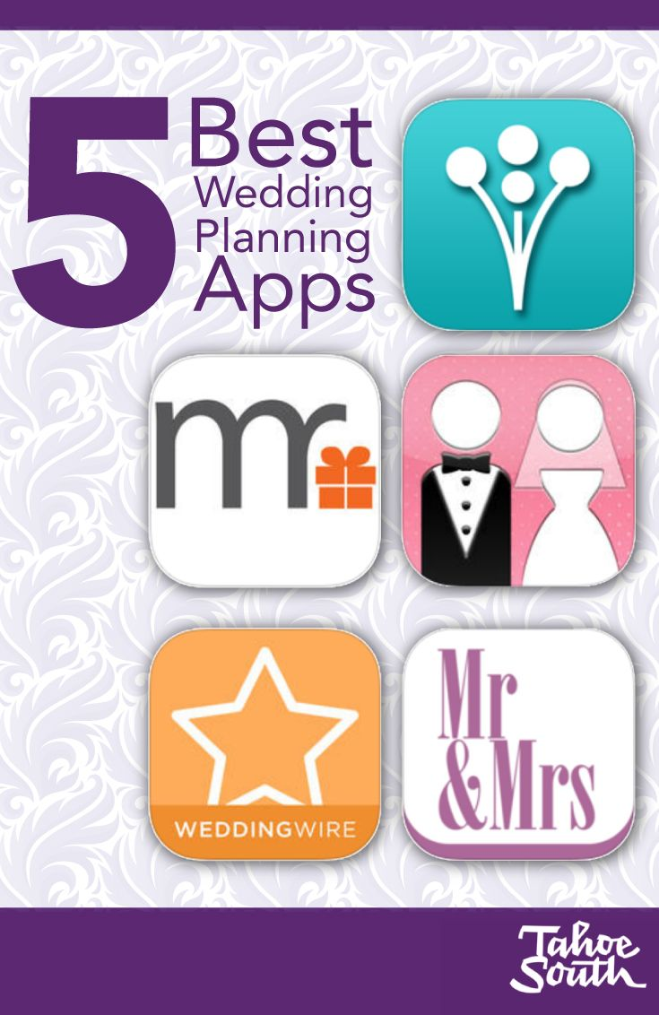 Planning your dream wedding? There's an app for that! Put your smartphone to work as your virtual wedding assistant and organize all of your information in one place. We gathered 5 of our favorite wedding planning apps that will help you enjoy the planning as much as the actual event. #weddingplanning www.TahoeWeddingSites.com