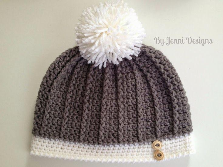 By Jenni Designs: Free Crochet Pattern: Women's Ribbed Hat