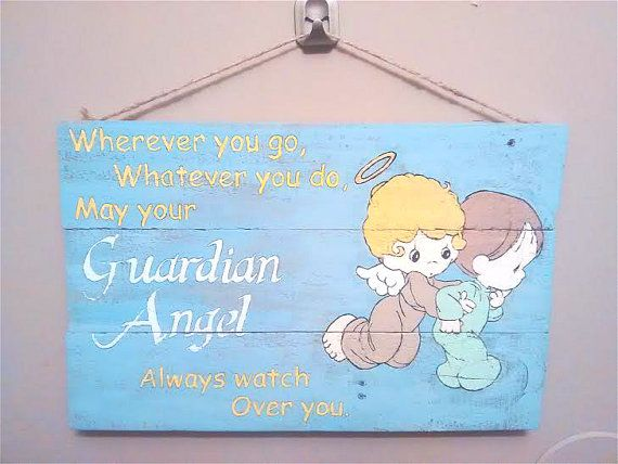Guardian Angel Wooden Plaque Quote Sign by KimballKreations