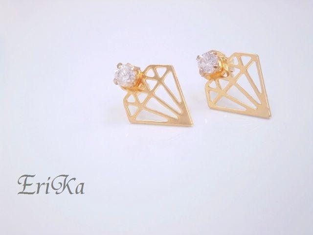 ダイヤモチーフのピアス by EriKa アクセサリー ピアス