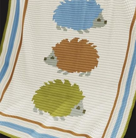 Crochet Pattern | Baby Blanket / Afghan - Hedgehogs
