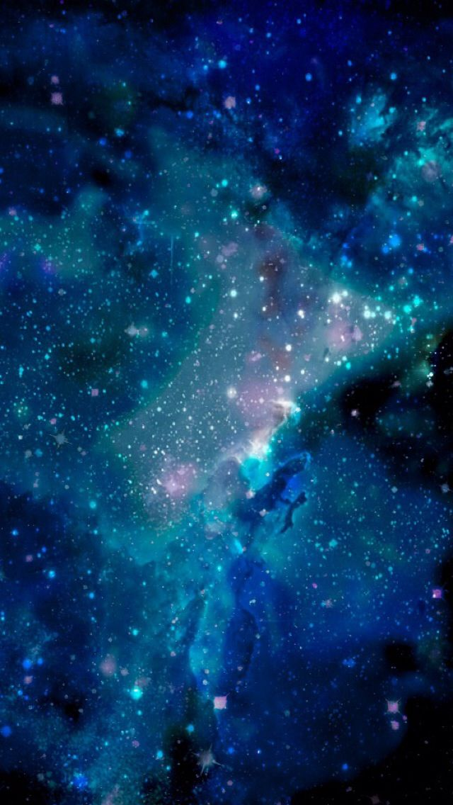 Blue galaxy wallpaper for iPhone 5