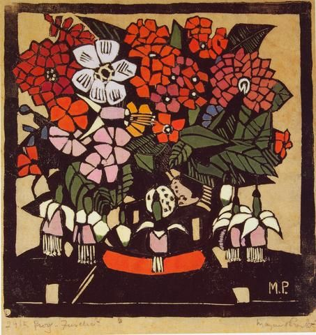 Margaret Preston 'Fuchsia' - Reproduction print on paper