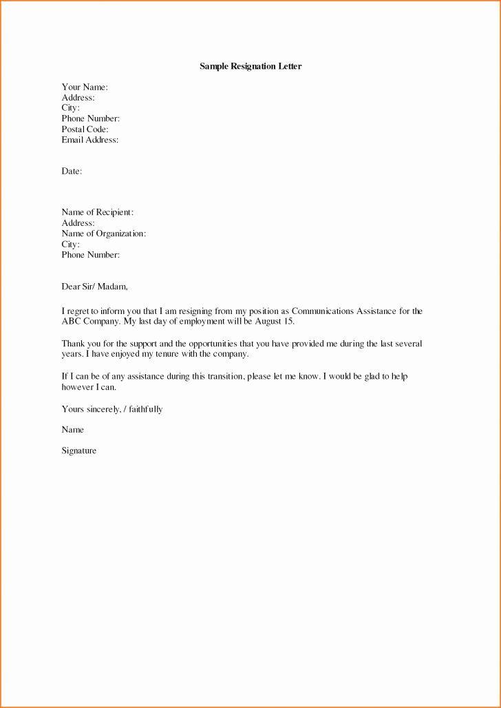 Resignation Letter Effective Immediately Best Of Simple Resignation Letter Effective Imm Resignation Letter Sample Resignation Letter Format Resignation Sample