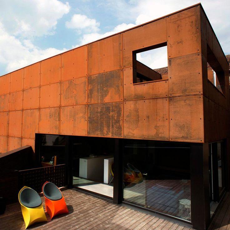 17 best Corten Steel Houses images on Pinterest Corten steel - calcul surface facade maison