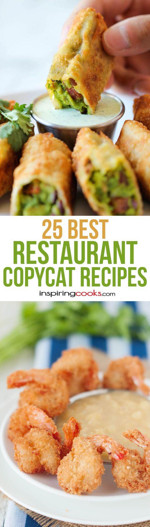 25 of the Best Restaurant Copycat Recipes on Pinterest