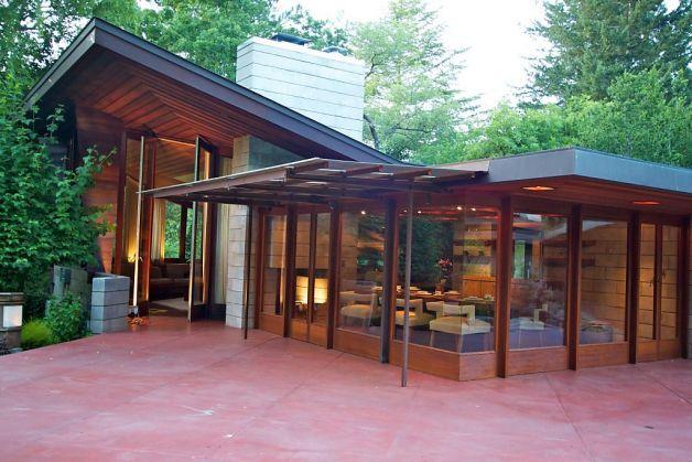 Maynard and Katharine Buehler House. Orinda California. 1948. Usonian Style. Frank Lloyd Wright.