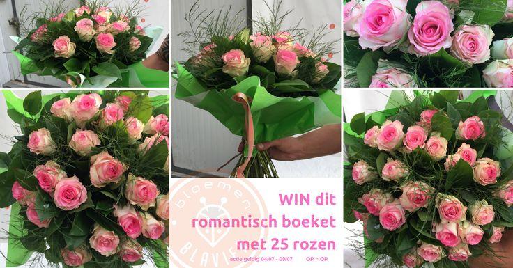 Een nieuwe week, een nieuwe weekpromo bij bloemen Blavier in Gingelom. Kom dit prachtige boeket rozen halen voor maar 14,95 euro en geniet van deze heerlijke roze rozen .... Maar weet je dat je elke week ook kans maakt om dit boeket gratis te krijgen? Gewoon even meedoen aan de wedstrijd via deze link http://wedstrijd.bloemenblavier.be/ref/j7271329 en je kan deelnemen aan deze gemakkelijke wedstrijd ... immers bloemen Blavier, bloemen zoals je wint !