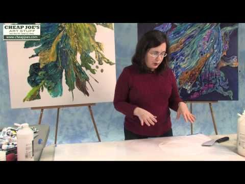 ▶ Debbie Arnold- How to Create a Poured Acrylic Skin - YouTube (17:35)