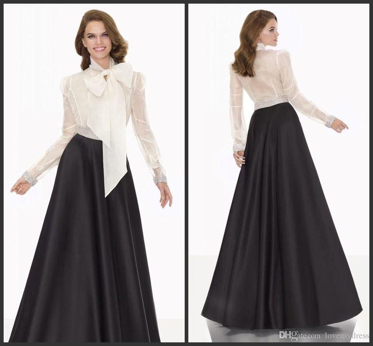 Elegant Evening Dresses Free Shipping Black Satin Floor
