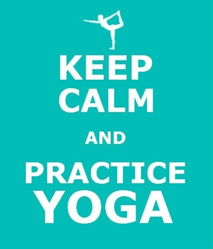 Yoga is always good for keeping calm