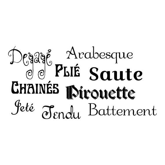 wall safe vinyl french dance words collage studio lettering letters