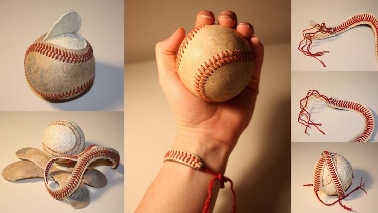 truebluemeandyou:    Baseball String Bracelet. Excellent clear tutorial at the blog: I can find the time.
