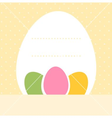 Yellow blank dotted easter background with eggs vector 1247464 - by lordalea on VectorStock®