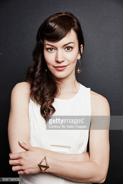 Britt Lower of FXX's 'Man Seeking Woman' poses in the Getty Images Portrait Studio at the 2016 Winter Television Critics Association press tour at the Langham Hotel on January 19, 2016 in Pasadena,...