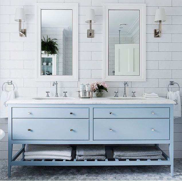 Bathroom Goals Blue Bathroom Vanity Blue Bathroom Bathroom Styling