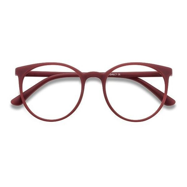 Women's Portrait - Matte Red round plastic - 18675 Plastic Rx... ($15) ❤ liked on Polyvore featuring accessories, eyewear, eyeglasses, glasses, sunglasses, round eyeglasses, oversized eyeglasses, oversized glasses, plastic glasses and round lens glasses