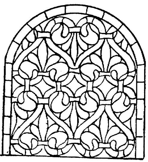 Medieval Stained Glass Coloring Pages