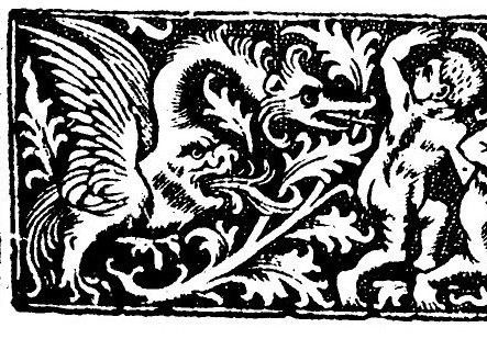 truncated version of NEXT -- 2 of the 3 putti deleted (my manipulation) for ease of comparison with the version of the motif in the NEXT Throwley misericord (carved c.1520) and Morgan illuminated French breviary