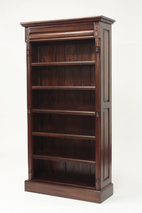 Rak buku model klasik colonial, ukuran lebar 100 x depth 45 x tinggi 205 Cm.  #rakbuku #bookcase #furniture #colonialstyle #kedaimebeljati #mebeljepara
