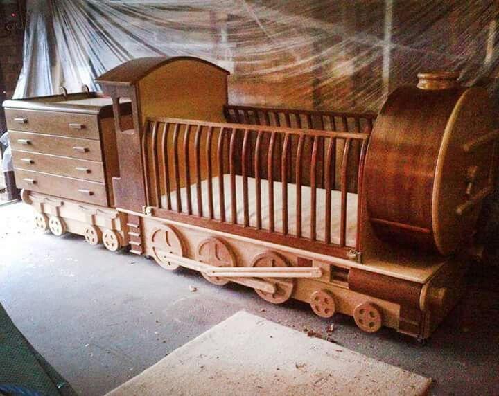 Choo choo train baby bed train bed cribs diy bed