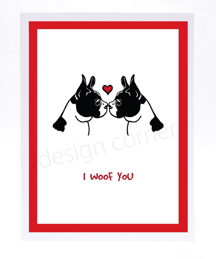 Funny Illustrated Boston Terrier Valentineu0027s Day Or Love Card By  Designcorner On Etsy