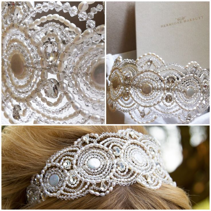 Hermione Harbutt Bespoke Gatsby Headdress | http://www.hermioneharbutt.com/wedding/