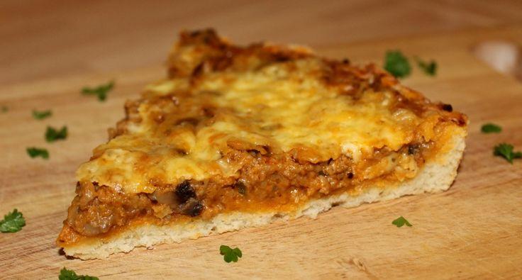 Gombás húsos pite recept